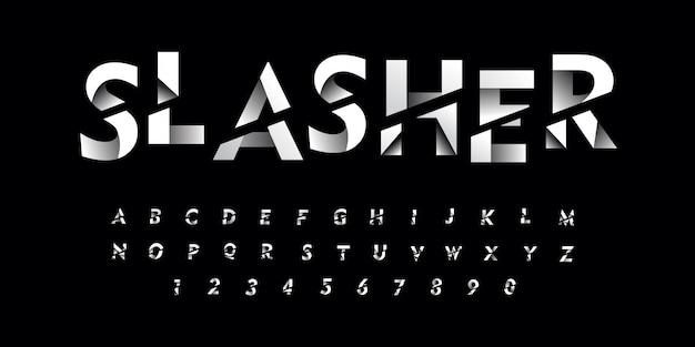 Gradien sliced font style