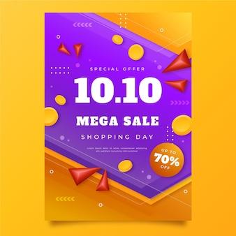 Gradient 10.10 vertical poster template