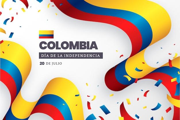 Gradient 20 de julio - independencia de colombia illustration