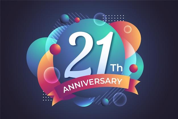 Gradient 21 anniversary background