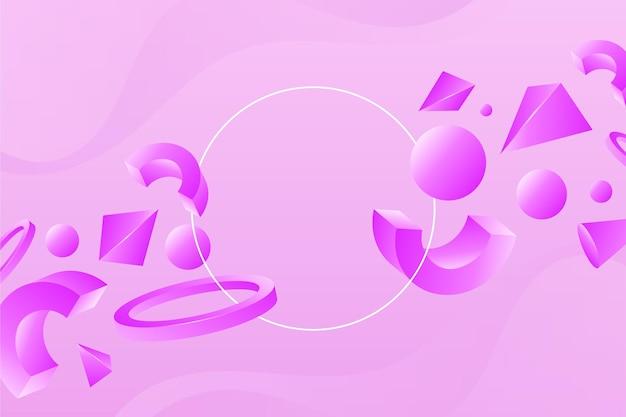 グラデーションの3d幾何学的背景