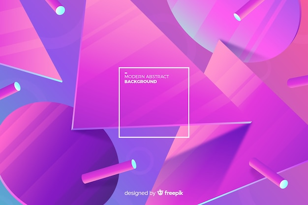 Gradient 3d shapes background