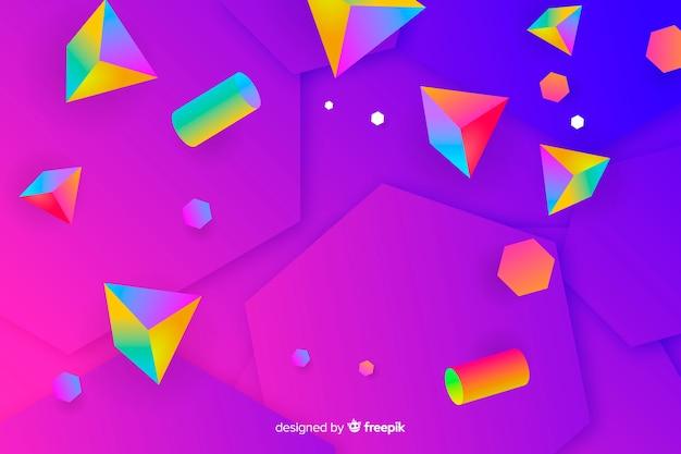 Gradient 3d shapes background