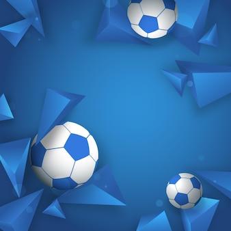 グラデーション3dはサッカーの背景を形作ります