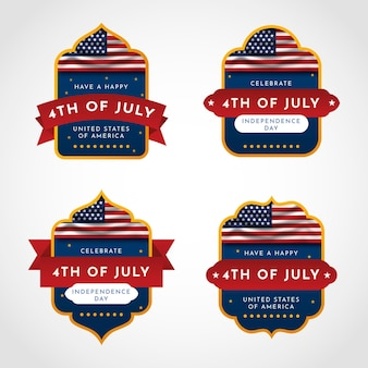 Gradient 4th of july - independence day badge collection