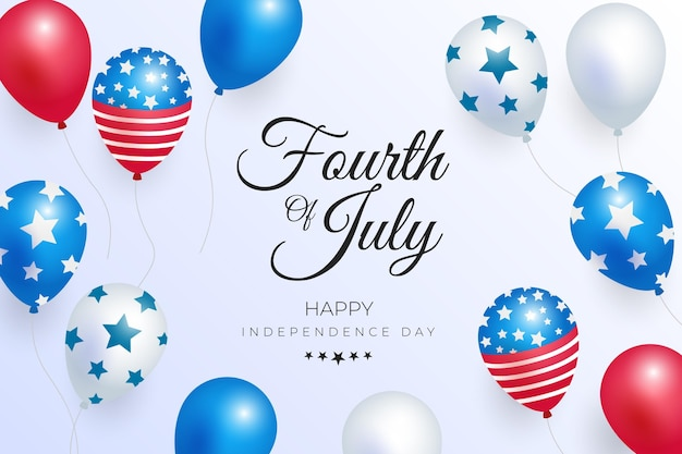 Gradient 4th of july - independence day balloons background