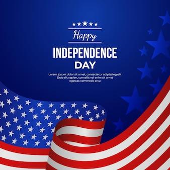 4 ° gradiente dell'illustrazione di giorno di indipendenza di luglio