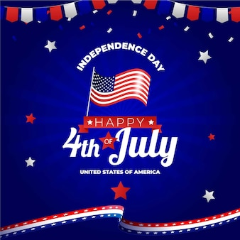 Gradient 4th of july - independence day illustration