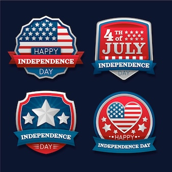 Gradient 4th of july - independence day label collection