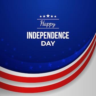 7月独立記念日のイラストのグラデーション4日