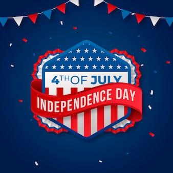 Градиент 4 июля день независимости иллюстрации Бесплатные векторы