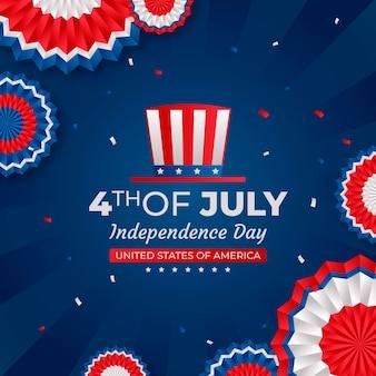 Градиент 4 июля день независимости иллюстрации