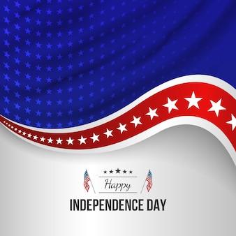 7 월 4 일 그라데이션-독립 기념일 그림