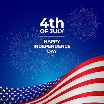 7 월 4 일 그라데이션-독립 기념일 그림 무료 벡터