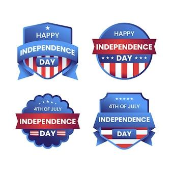 7月4日グラデーション-独立記念日ラベルコレクション