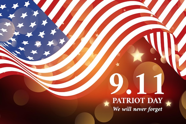 グラデーション9.11愛国者の日の背景