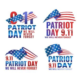Коллекция значков gradient 9.11 день патриота