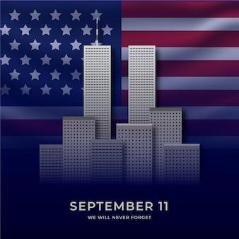 Gradient 9.11 patriot day illustration