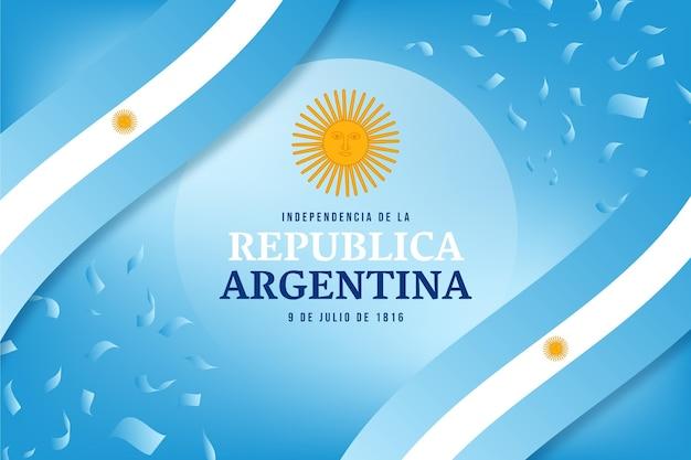 Градиент 9 июля - иллюстрация декларации независимости аргентины
