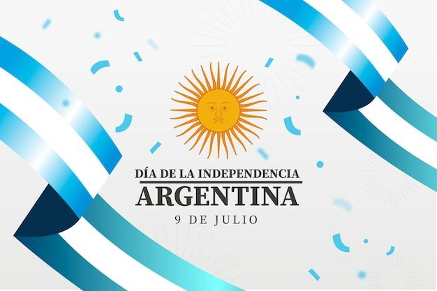 Gradient 9 de julio-declaracion de independencia de la argentina 일러스트레이션