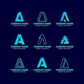 Набор градиентных логотипов