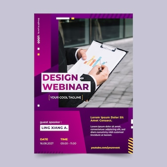 Gradient a5 flyer template