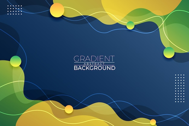 Gradient abstract background blue green and yellow style