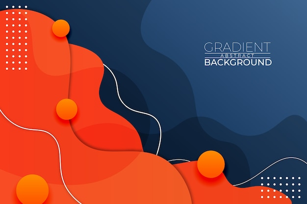 Gradient abstract background blue orange style