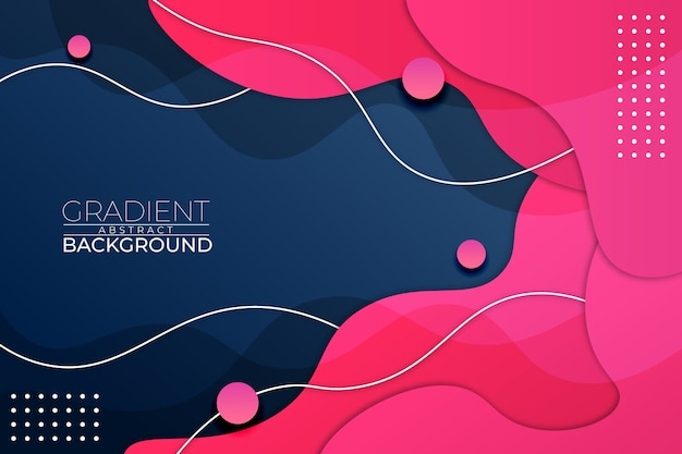 Gradient abstract background blue pink style