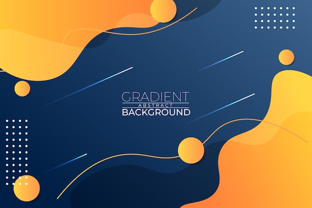 Gradient abstract background blue yellow style