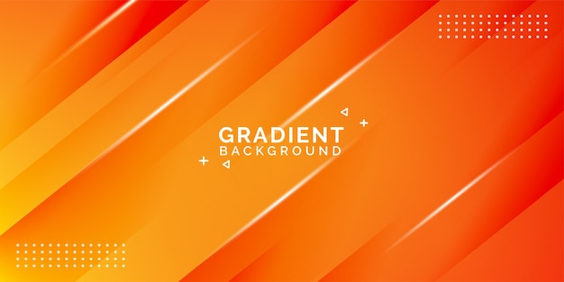 Gradient abstract background, orange color