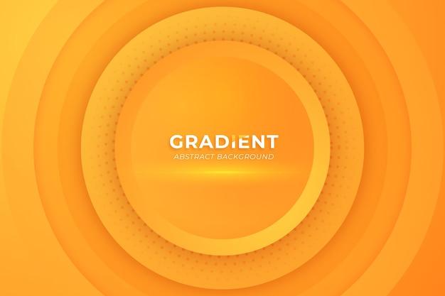 원형 모양 오렌지 색상으로 그라데이션 추상적인 배경