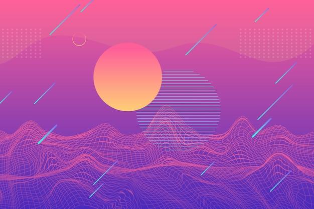 Градиент абстрактный фон с разными формами