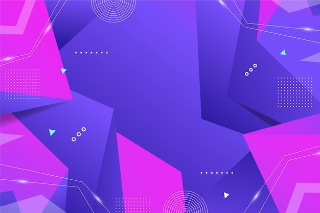 Gradient abstract background with geometrical shapes