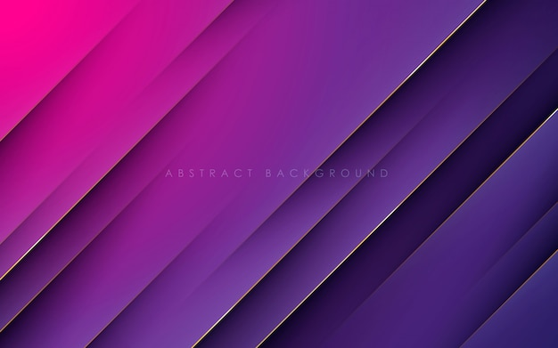 Gradient abstract background with gold line