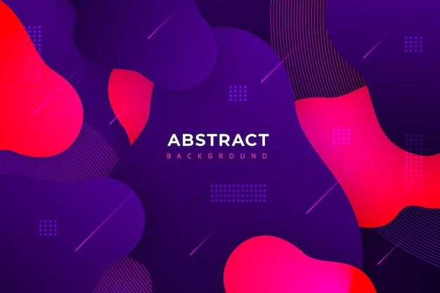 Gradient abstract background with modern shapes