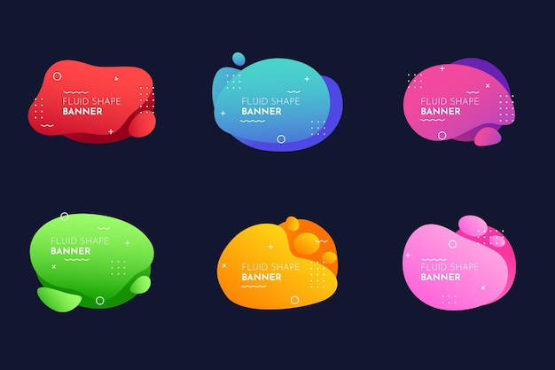 Gradient abstract banner collection
