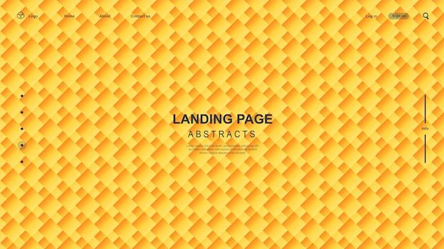 流れる液体の形をしたグラデーションの抽象的なバナー。テンプレートデザインのランディングページまたは背景。
