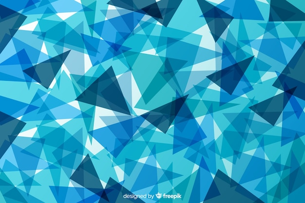 Gradient abstract blue shapes background