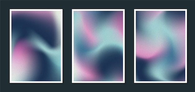 Gradient abstract blurred cover collection