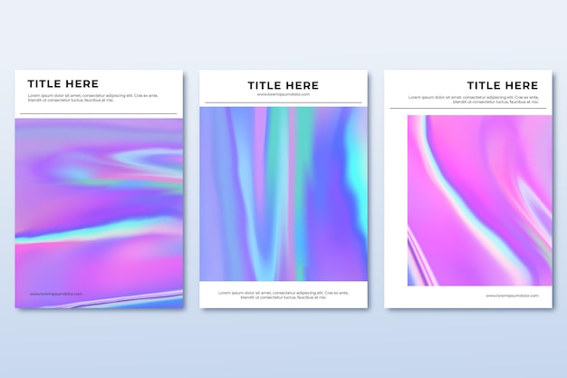 Gradient abstract blurred covers collection
