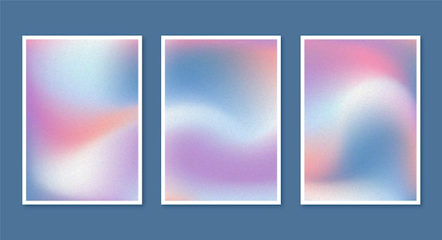 Gradient abstract blurred covers
