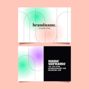 Gradient abstract business card template