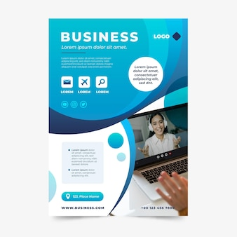 Gradient abstract business flyer