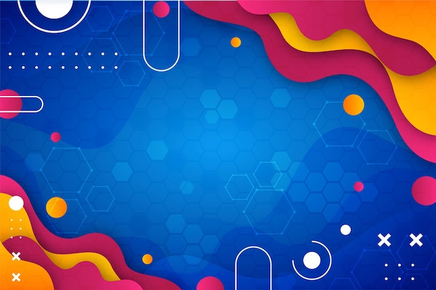 Gradient abstract colorful background