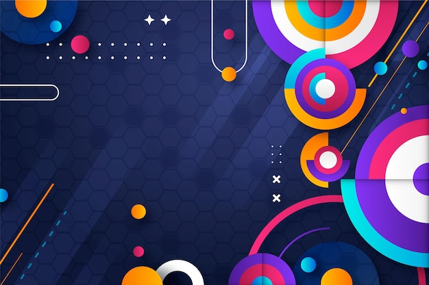 Gradient abstract colorful shapes background