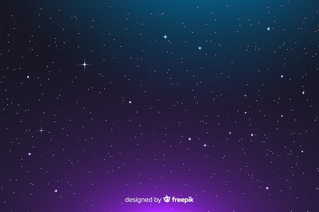 Gradient abstract constellation background