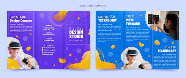 Gradient abstract fluid technology brochure