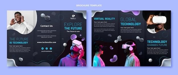 Brochure sulla tecnologia dei fluidi astratti sfumati