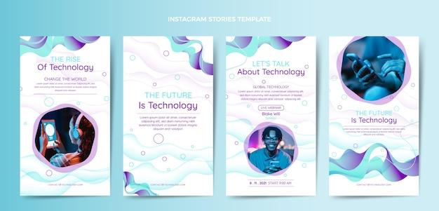 Градиент абстрактные жидкости технологии instagram рассказы